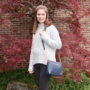 Michael Kors Bags - Michael Kors Navy Leather Crossbody Bag, new!